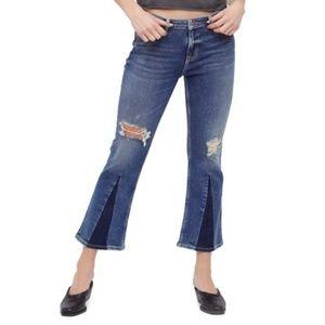 🆕️ Free People Color Block Crop Jeans